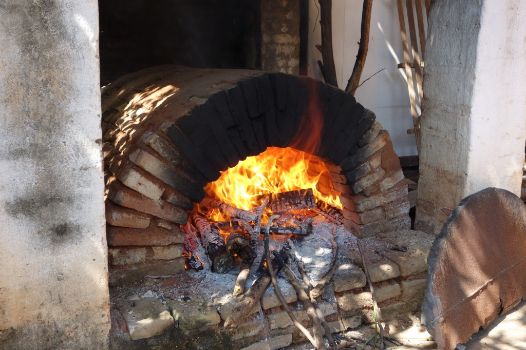 A stone oven